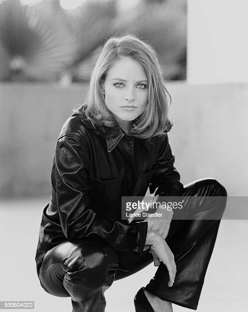 Jodie Foster Wearing Leather Outfit