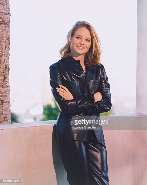 Jodie Foster Wearing Leather Suit