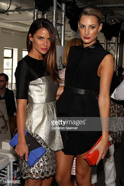Jodie Gordon and Laura Dundovic arrive for the Ellery show on day three of MercedesBenz Fashion Week Australia Spring/Summer 2012/13 at 320 Liverpool...