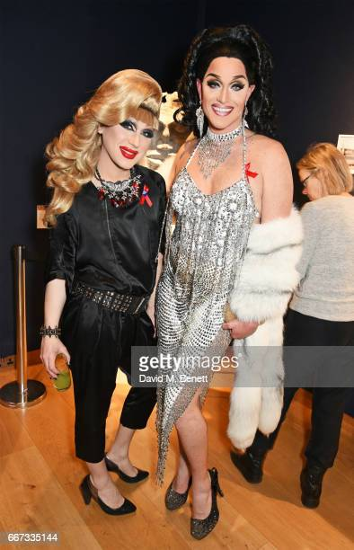 Jodie Harsh and Epiphany Get Paid attend Terrence Higgins Trust The Auction in support of people living with HIV at Christie's on April 11 2017 in...