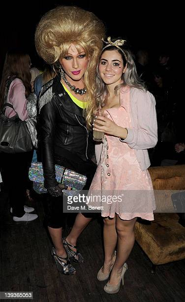 Jodie Harsh and Marina Diamandis attend the Vivienne Westwood after party with Belvedere during London Fashion Week Autumn/Winter 2012 at The Box...