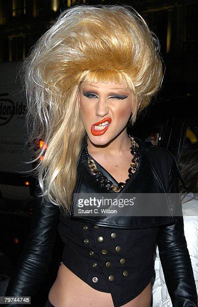 Jodie Harsh arrives at the H&M Regent Street Store launch party on February 13, 2008 in London, England.