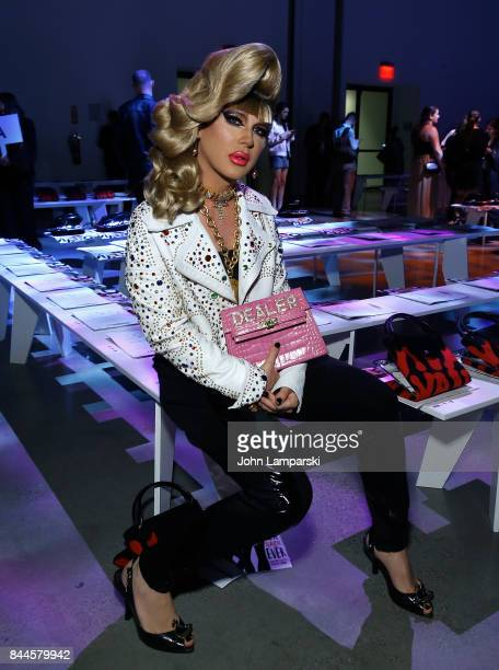 Jodie Harsh attends Jeremy Scott collection during the September 2017 New York Fashion Week The Shows on September 8 2017 in New York City