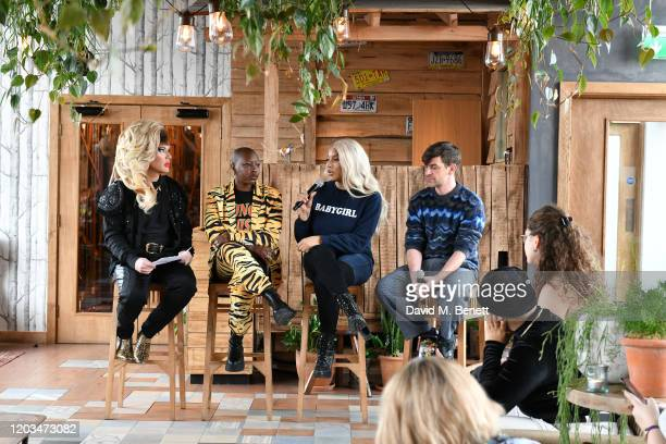 Jodie Harsh, Char Ellesse, Munroe Bergdorf and Josef Salvat attend an exclusive breakfast hosted by 4th Floor Creative to celebrate LGBTQ+ History...