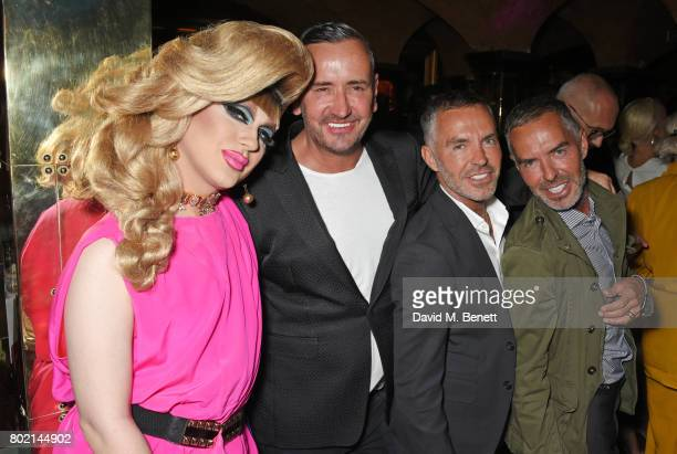 Jodie Harsh Fat Tony Dean Caten and Dan Caten attend the Rita Ora dinner and performance at Annabel's on June 27 2017 in London England