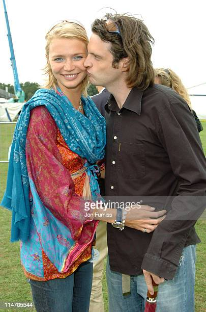 Jodie Kidd and Aidan Butler during Cartier International Day Polo Coronation Cup 2004 at Guards Polo Club in Windsor United Kingdom