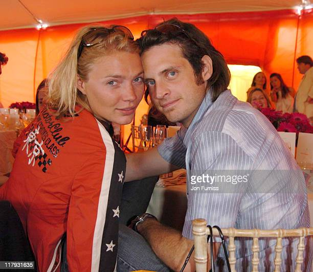 Jodie Kidd and Aiden Butler during Veuve Clicquot Polo Gold Cup Final July 18 2004 at Cowdry Park in West Sussex Great Britain