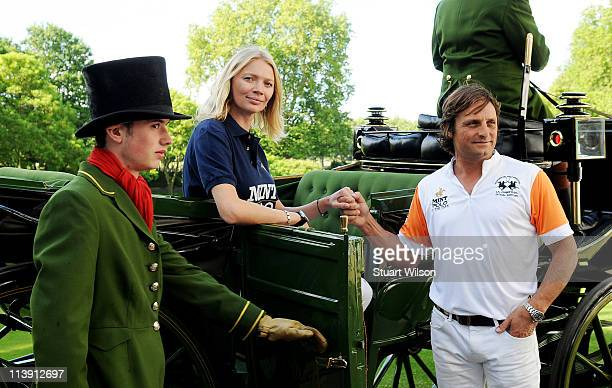 Jodie Kidd and Andrea Vianini launch MINT Polo in the Park at The Hurlingham Club on May 10 2011 in London England