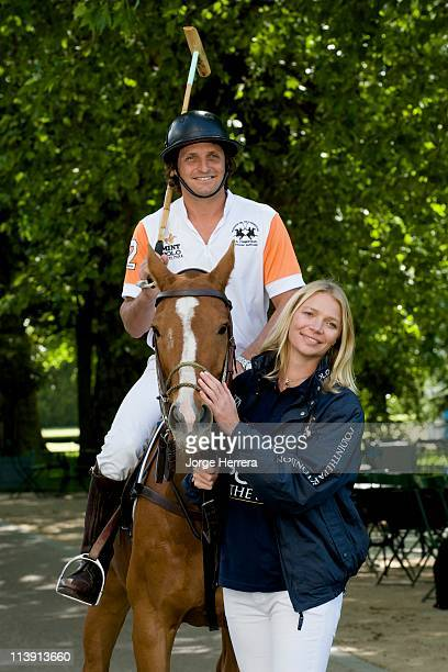 Jodie Kidd and boyfriend Andrea Vianini launch MINT Polo in the Park at The Hurlingham Club on May 10 2011 in London England