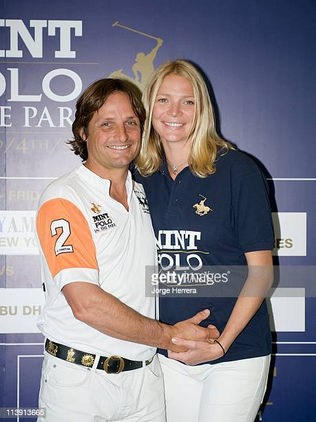 Jodie Kidd and boyfriend Andrea Vianini launche MINT Polo in the Park at The Hurlingham Club on May 10 2011 in London England