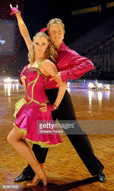 Jodie Kidd and dance partner Ian Waite attend the Strictly Come Dancing The Live Tour photocall at Manchester Evening News Arena on January 21 2009...