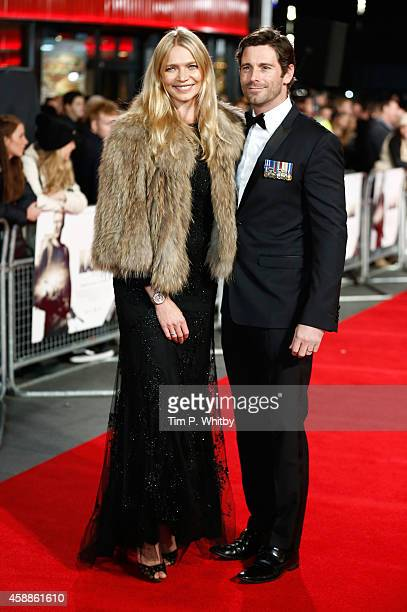 Jodie Kidd and David Blakeley attend the 'Kajaki The True Story' UK Premiere at Vue Leicester Square on November 12 2014 in London England