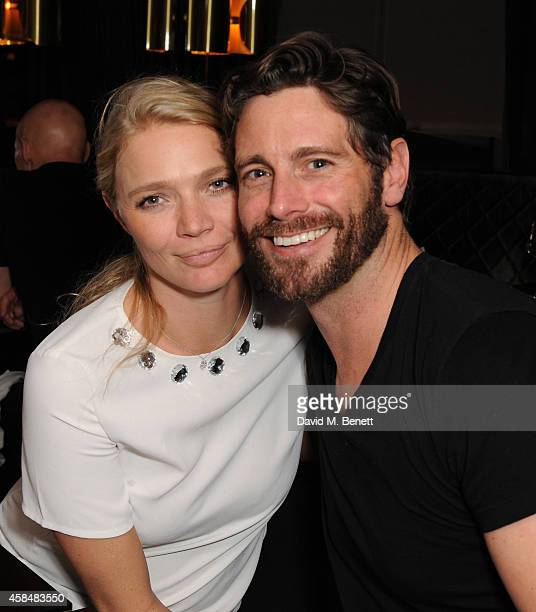 Jodie Kidd and David Blakeley attends as Marianne Faithful performs at Quaglino's on November 5 2014 in London England
