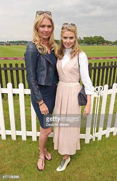Jodie Kidd and Donna Air attend The Cartier Queen's Cup final at Guards Polo Club on June 14 2015 in Egham England
