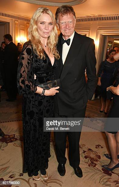 Jodie Kidd and father John Kidd attend The Cartier Racing Awards 2016 at The Dorchester on November 8 2016 in London England
