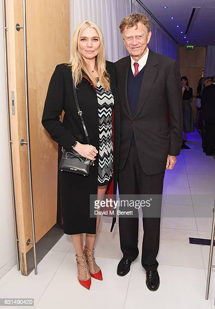 Jodie Kidd and father John Kidd attend the opening night reception of the English National Ballet's production of 'Giselle' hosted by St Martins Lane...
