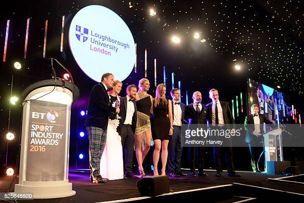 Jodie Kidd and Gianluca Vialli present the Cutting Edge Sport award in association with Loughborough University to FIA Formula E Championship at the...