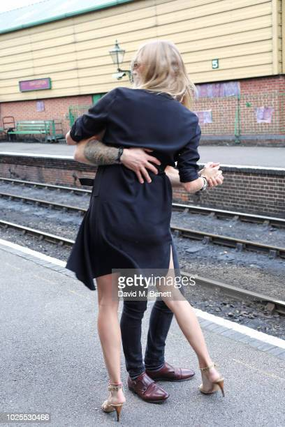 Jodie Kidd and Joseph Bates attend KRUG Encounters Tracks on Tracks curated by Jools Holland on August 31 2018 in London United Kingdom