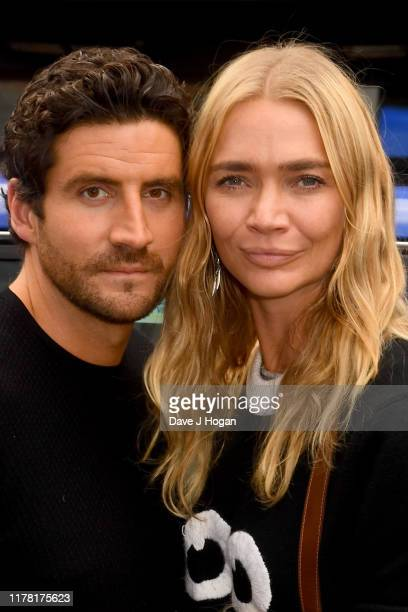 Jodie Kidd and Joseph Bates attend the Shaun The Sheep Movie Farmageddon UK Premiere at Odeon Luxe Leicester Square on September 22 2019 in London...
