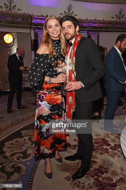 Jodie Kidd and Joseph Bates attend the Walpole British Luxury Awards 2018 at The Dorchester on November 19 2018 in London England