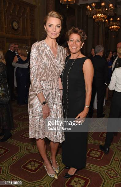 Jodie Kidd and Stephanie Moore attend the 7th annual 'Dining With The Stars' charity dinner in aid of Cancer Research UK's Bobby Moore Fund at One...