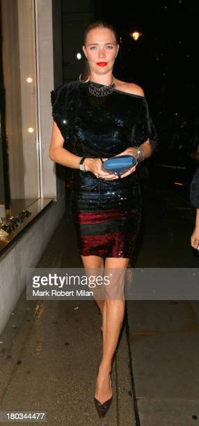 Jodie Kidd attending the Louis Vuitton Dinner to celebrate the Men's Autumn Winter 2013 Collection on September 11 2013 in London England
