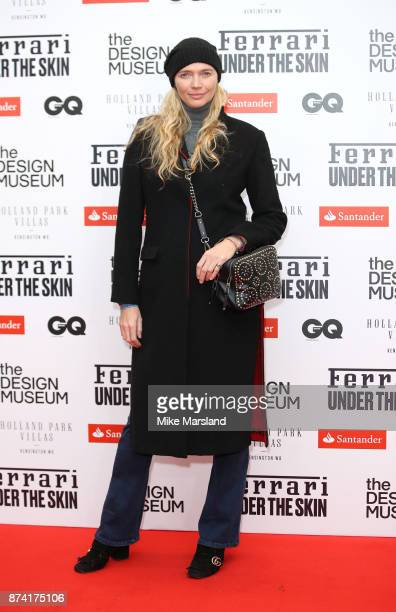 Jodie Kidd attends Ferrari Under the Skin hosted by Deyan Sudjic and Alice Black Directors of the Design Museum and Dylan Jones Editor of GQ at the...