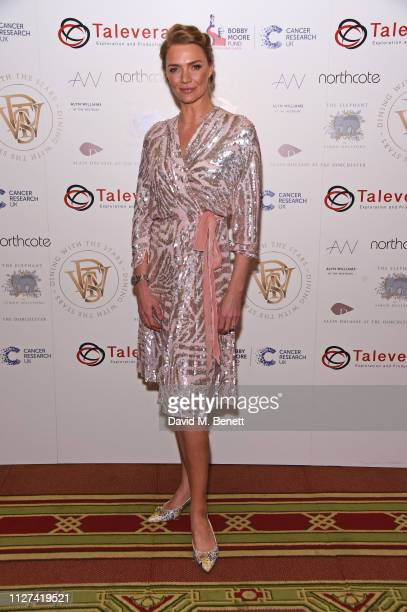 Jodie Kidd attends the 7th annual 'Dining With The Stars' charity dinner in aid of Cancer Research UK's Bobby Moore Fund at One Whitehall Place on...