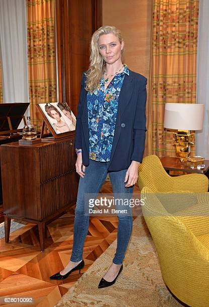 Jodie Kidd attends the Bulgari and Cash Rocket Christmas lunch at Bulgari New Bond Street on December 6 2016 in London England