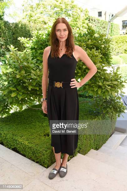 Jodie Kidd attends the launch luncheon of Amanda Harrington London's sunless tanning brand with Perrier Jouet Blason Rose on May 14 2019 in London...