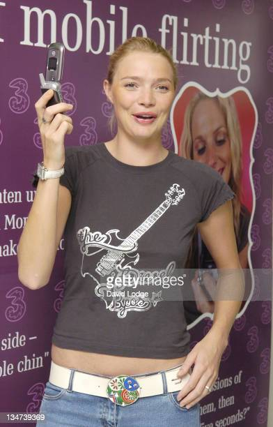 Jodie Kidd during 3 Turns Cupid With New Dating Service August 4 2005 at 3 Mobile Phone Shop High Street Kensington in London Great Britain