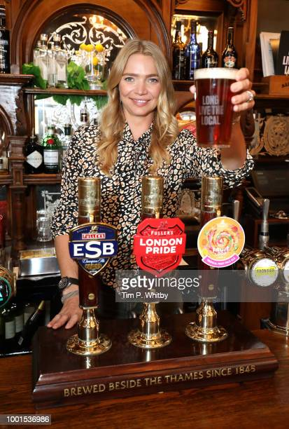 Jodie Kidd during a photocall at The Red Lion Pub Westminster on July 19 2018 in London England who is calling on the Chancellor of the Exchequer to...
