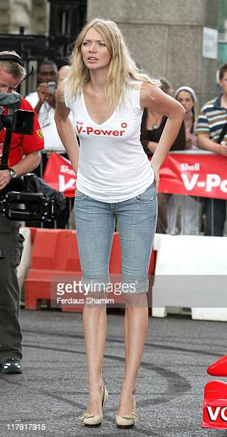 Jodie Kidd during New Shell Performance Fuel Launch at Belvedere Road in London Great Britain