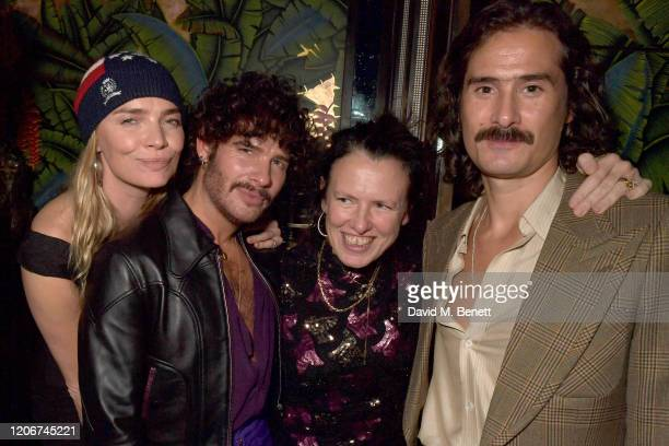 Jodie Kidd Luke Day Katie Grand and Ben Cobb attend the TOMMYNOW after party at Annabels on February 16 2020 in London England