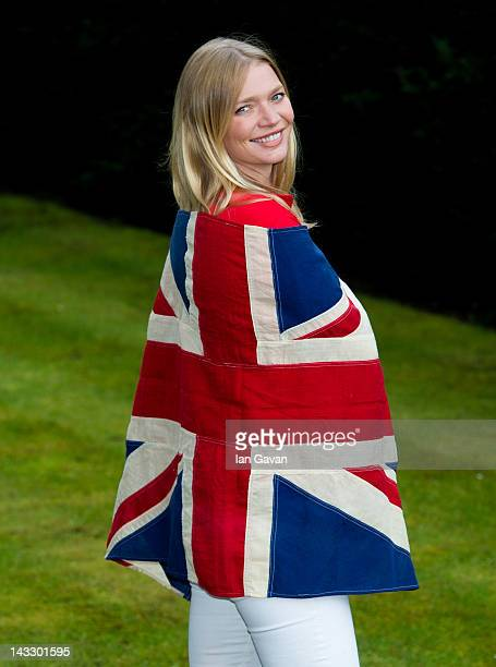Jodie Kidd poses for photos as she officially launches the MINT Polo in the Park at the Mandarin Oriental Hyde Park on April 23 2012 in London...