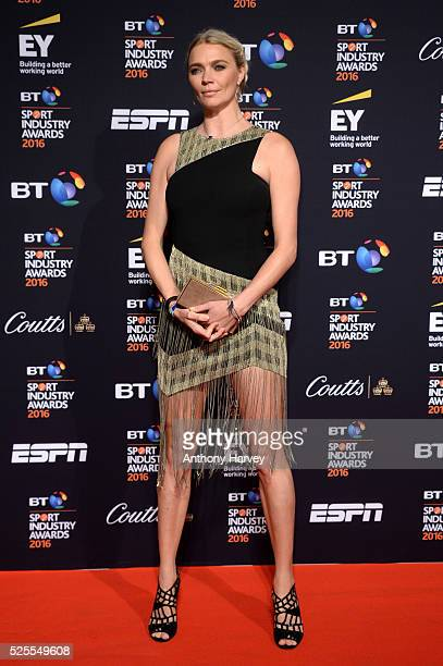 Jodie Kidd poses on the red carpet at the BT Sport Industry Awards 2016 at Battersea Evolution on April 28 2016 in London England The BT Sport...