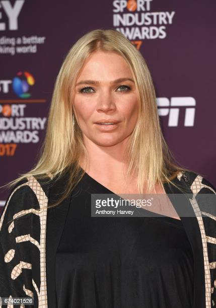 Jodie Kidd poses on the red carpet during the BT Sport Industry Awards 2017 at Battersea Evolution on April 27 2017 in London England The BT Sport...