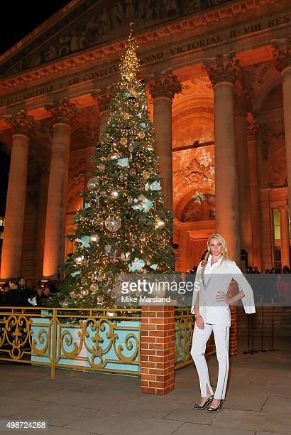 Jodie Kidd switches on the Christmas Tree at The Royal Exchange on November 25 2015 in London England