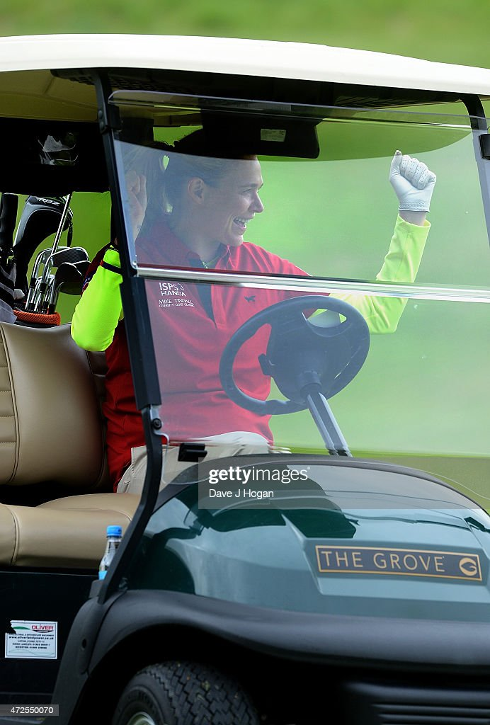 Jodie Kidd takes part in the ISPS Handa Mike Tindall 3rd Annual Celebrity Golf Classic at The Grove Hotel on May 8, 2015 in Hertford, England.