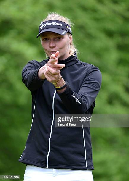 Jodie Kidd taking part in celebrity golf classic at Mannings Heath Golf Club on May 20 2013 in Horsham England