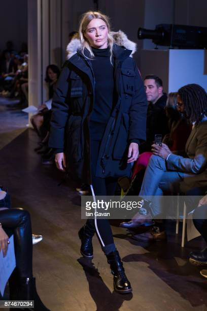 Jodie Kidd walks the runway during the Canada Goose x London Celebrating London Flagship Opening and 60th Anniversary event on November 15 2017 in...