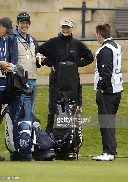 Jodie Kidd with husband Aidan Butler during the second round of the Dunhill Links Championship at St Andrews on September 30 2005
