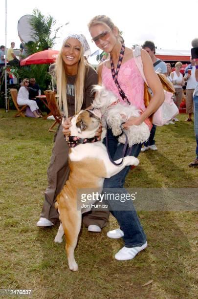 Jodie Marsh and Lady Isabella Hervey at the Virgin Mobile Louder Lounge V Festival