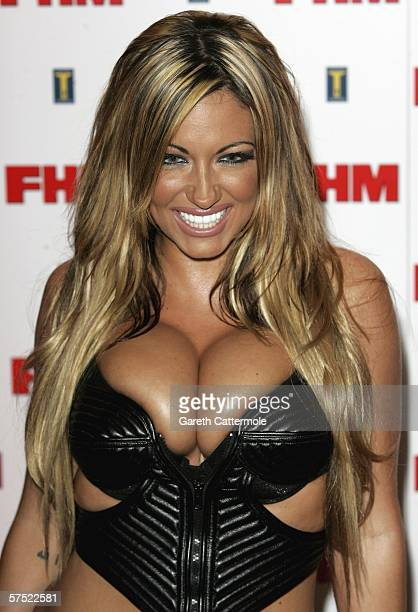 Jodie Marsh arrives at The FHM 100 Sexiest Women In The World Party 2006 at Madame Tussauds on May 03 2006 in London England