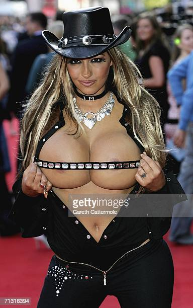 Jodie Marsh arrives at the UK Charity Premiere of Just My Luck on June 28 2006 in London