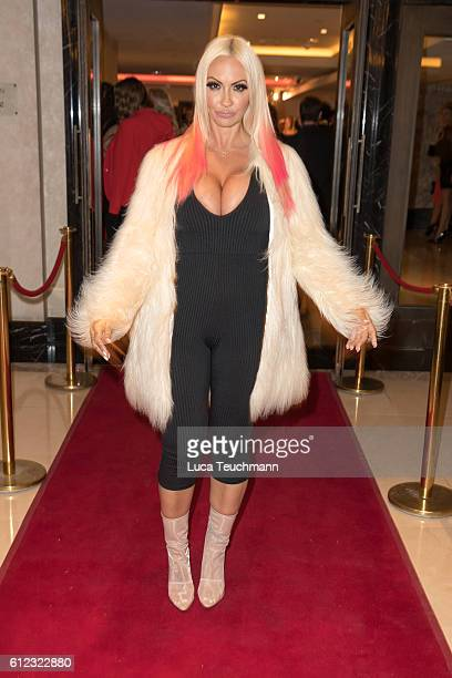 Jodie Marsh arrives for the London Lifestyle Awards at Lancaster London Hotel on October 3 2016 in London England