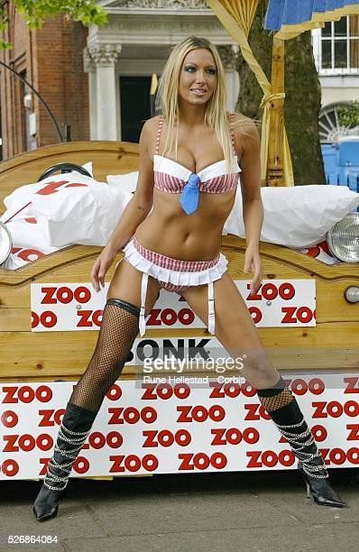 Jodie Marsh at Soho Square in London The twentyfiveyearold model from Essex in England has been signed up by the men's magazine Zoo as their Sex...