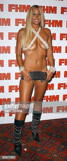 Jodie Marsh attends FHM 100 Sexiest Women party celebrating annual poll of 100 sexiest women as voted by readers of the men's magazine at Guildhall...