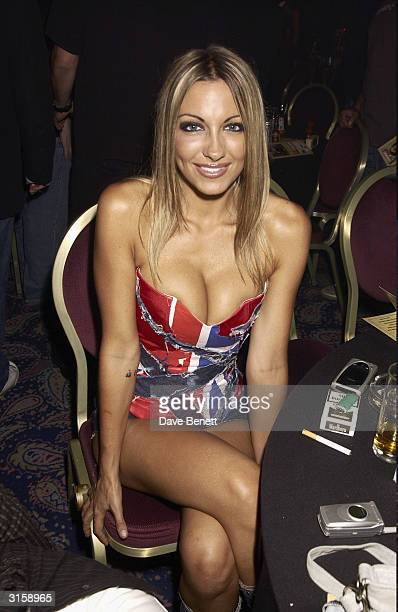 Jodie Marsh attends the 2003 Kerrang Music Awards at The Royal Lancaster Hotel on August 22 2003 in London