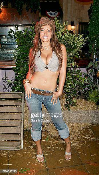 Jodie Marsh attends the after party for the UK Premiere of 'The Dukes Of Hazzard' at the Texas Embassy Cantina on August 22 2005 in London England